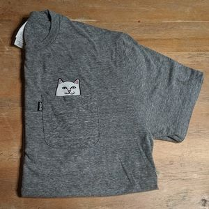 Men's medium gray ripndip shirt top